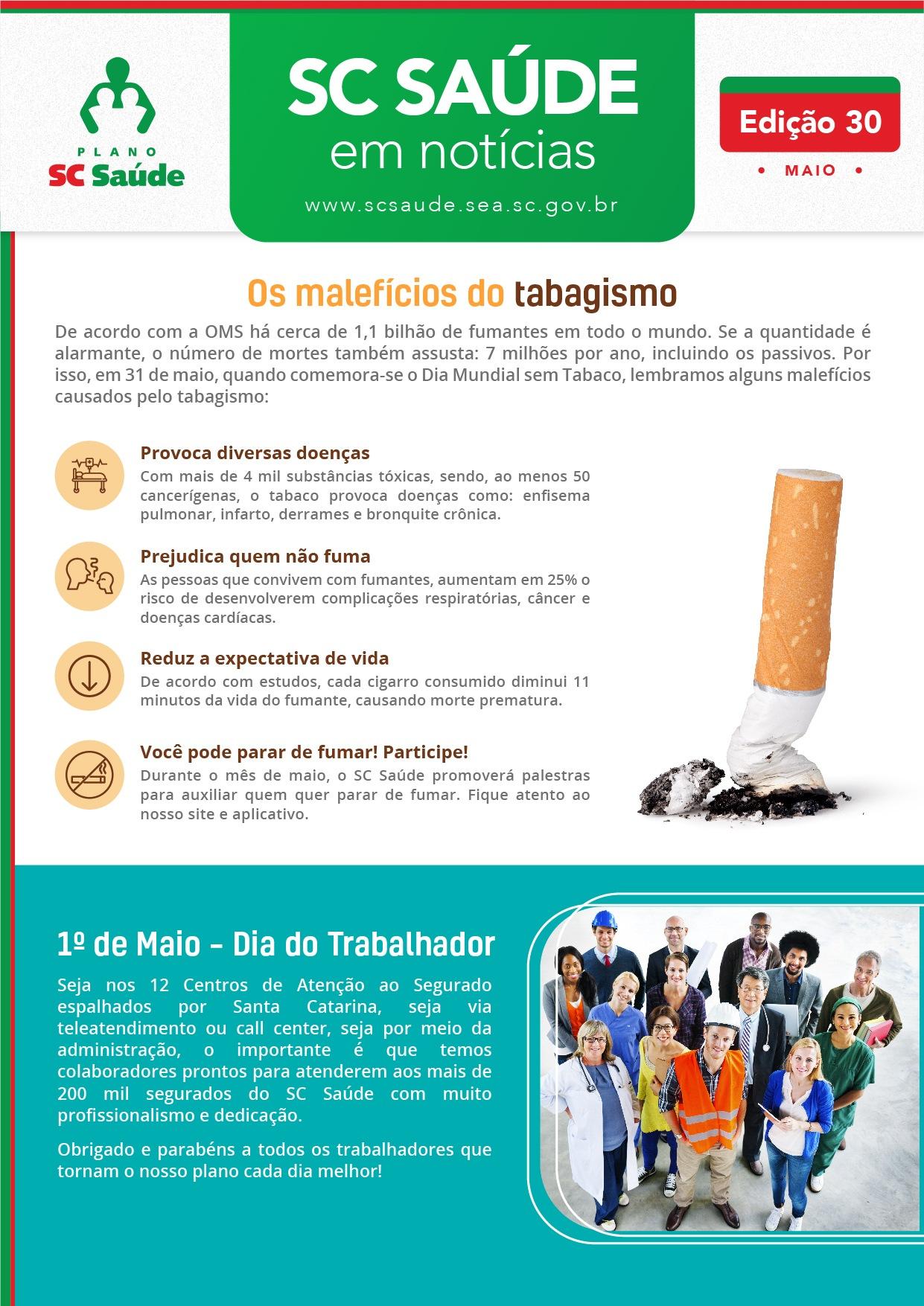 Edição #30 – Os malefícios do tabagismo