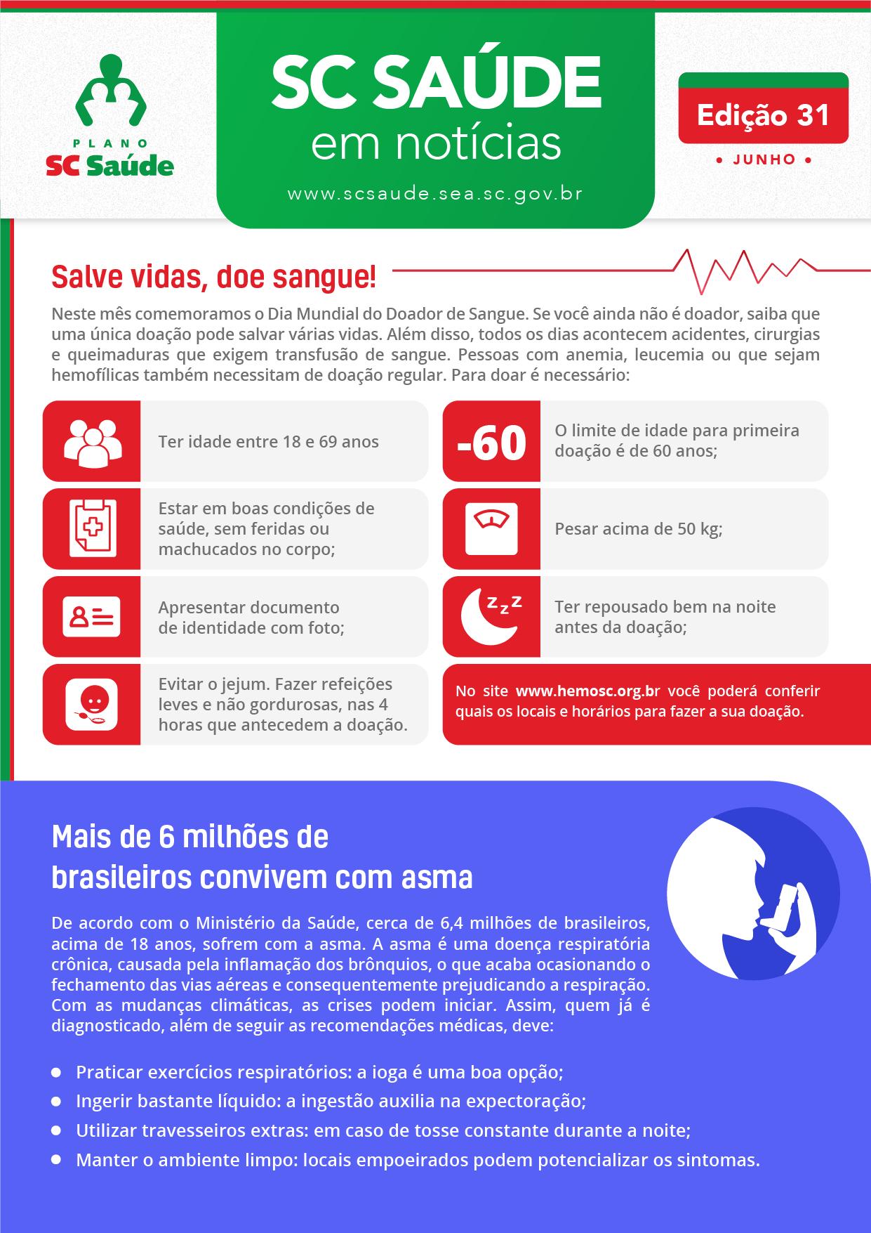 Edição 31 –Salve vidas, doe sangue!